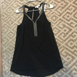 NEW WITH TAGS Black Tank with Jewel Neckline